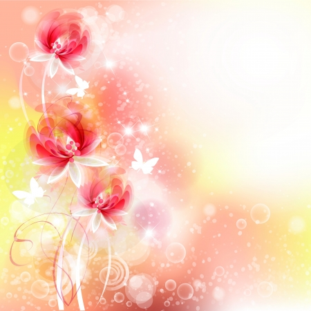 Flowers bright a background are more transparent Stock Vector - 15464836