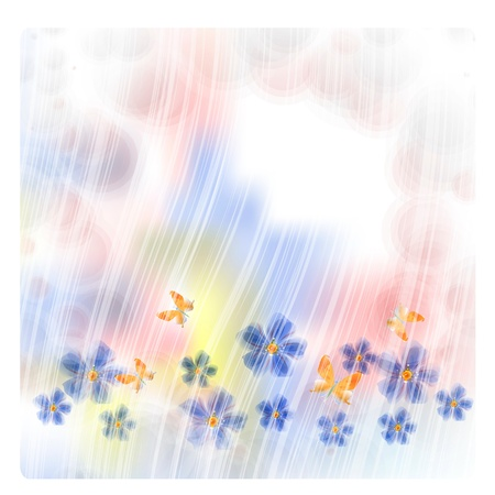 Flowers bright a background are more transparent     Stock Vector - 15540429