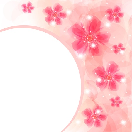 softly: Flowers bright a background are more transparent     Illustration