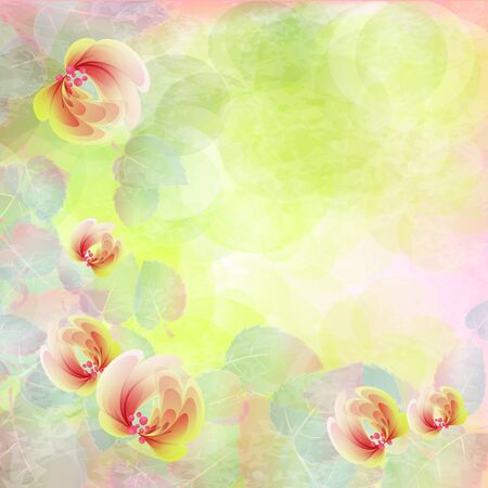 Flowers bright a background are more transparent     Stock Vector - 15544244