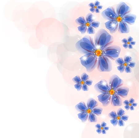 Flowers bright a background are more transparent     Stock Vector - 15544242