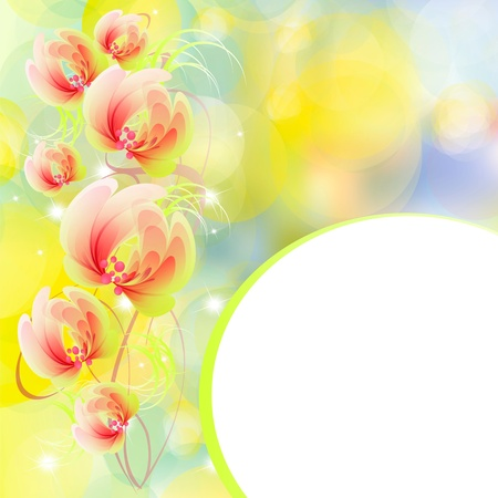 Flowers bright a background are more transparent Stock Vector - 15544243