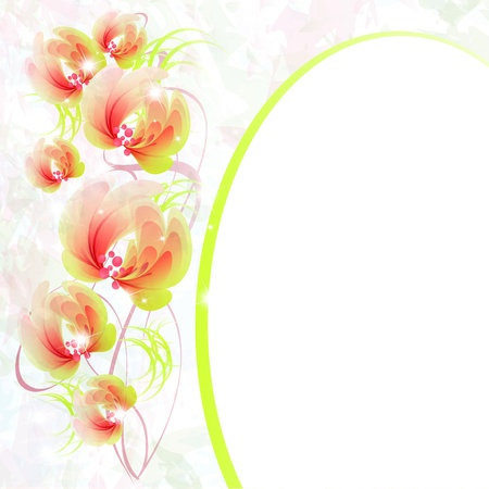Flowers bright a background are more transparent     Stock Vector - 15544250