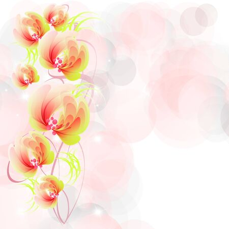 Flowers bright a background are more transparent     Stock Vector - 15540418