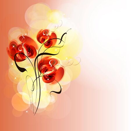 Flowers bright a background are more transparent     Stock Vector - 15596498