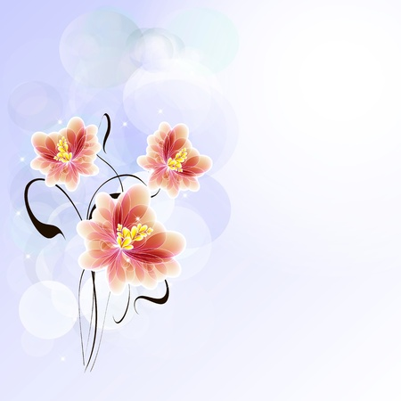 Flowers bright a background are more transparent Stock Vector - 15596497