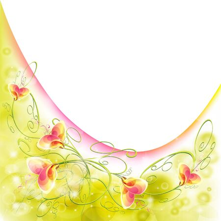 Flowers bright a background are more transparent Stock Vector - 15642555