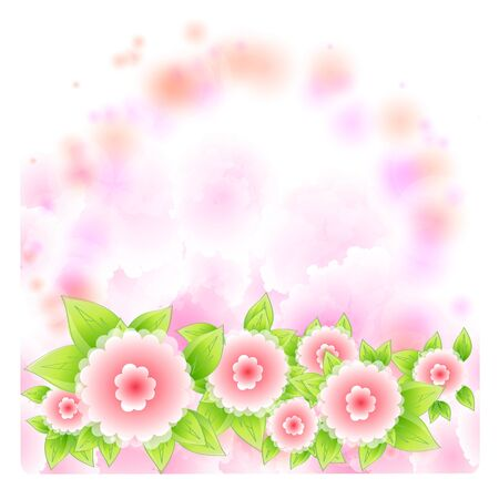 Flowers bright a background are more transparent       Stock Vector - 15642562