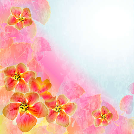Flowers bright a background are more transparent Stock Vector - 15756307