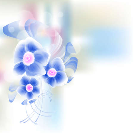 Flowers bright a background are more transparent     Stock Vector - 15756294
