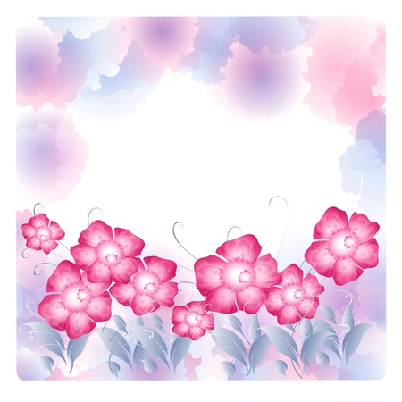 Flowers bright a background are more transparent Stock Vector - 15756297