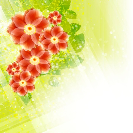 Flowers bright a background are more transparent Stock Vector - 15756315