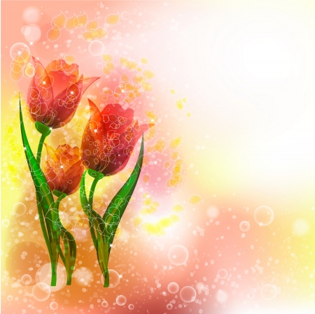 Flowers bright a background are more transparent Stock Vector - 15756311