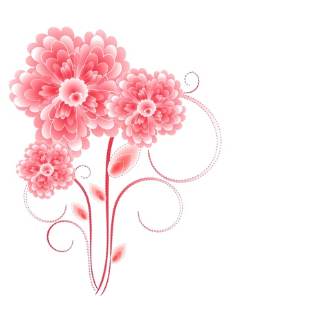 Flowers bright a background are more transparent Stock Vector - 15756293