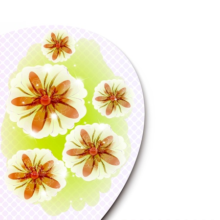 Flowers bright a background are more transparent Stock Vector - 15974393