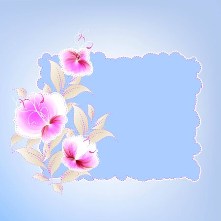 Flowers bright a background are more transparent Stock Vector - 16398791