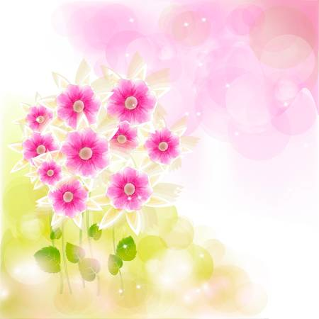 Flowers bright a background are more transparent Stock Vector - 16398788