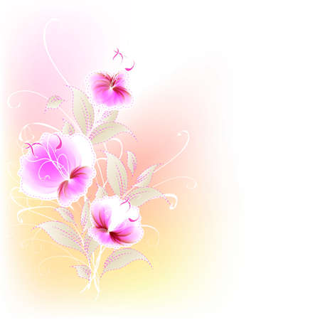 Flowers bright a background are more transparent Stock Vector - 16398784