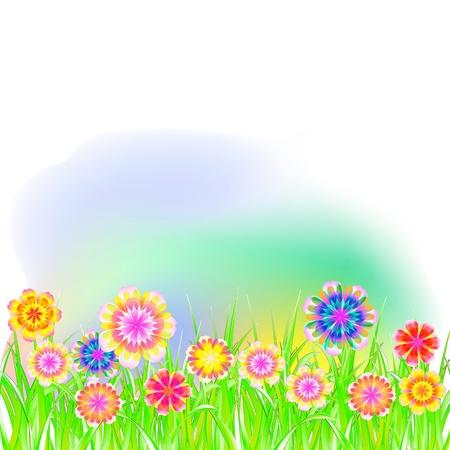 spring, summer landscape Stock Vector - 17076019