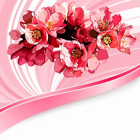 Flowers on bright a background Stock Vector - 17169964