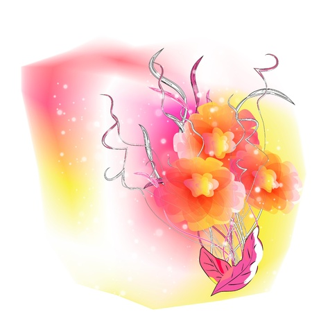 Flowers on bright a background Stock Vector - 17169948