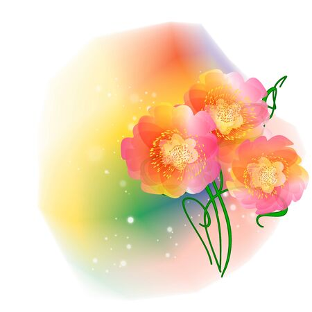 Flowers on bright a background Stock Vector - 17169981