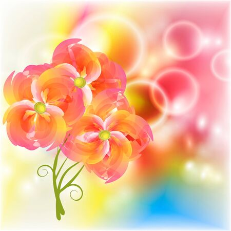 Flowers on bright a background     Stock Vector - 17170001