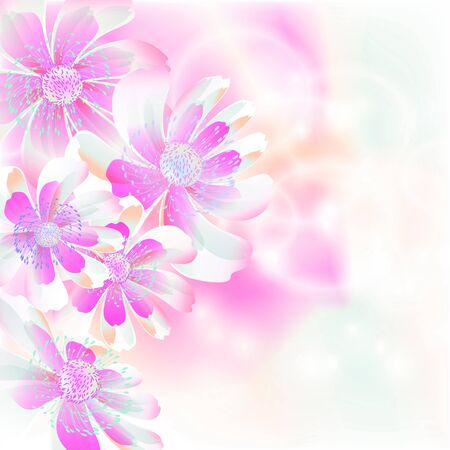 Flowers on bright a background     Stock Vector - 17169991
