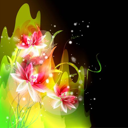 Flowers on bright a background Stock Vector - 17169966