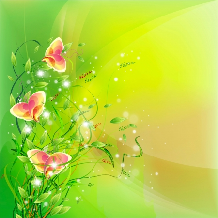 Flowers on bright a background Stock Vector - 17169967