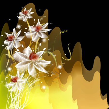 creative potential: Flowers on bright a background