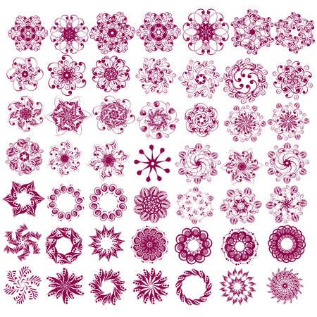 swashes: calligraphic design elements Illustration
