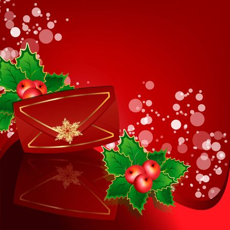 red envelope by a holiday Vector