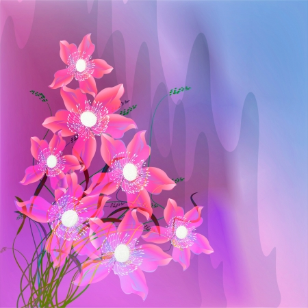 Flowers on bright a background Stock Vector - 17451683