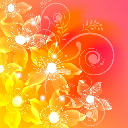 Flowers on bright a background Stock Vector - 17451677