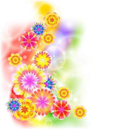 Flowers on bright a background Stock Vector - 17451679