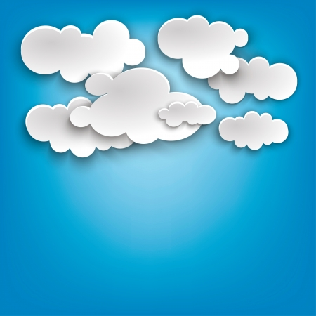 clouds on a blue photo Stock Vector - 17600251