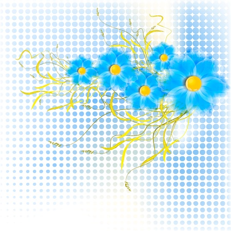 Flowers on bright a background Stock Vector - 17600248