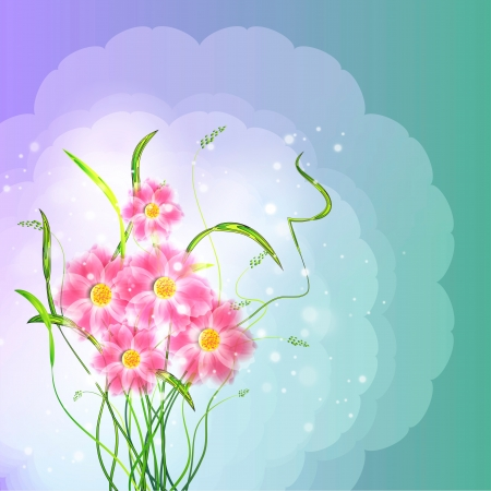 Flowers on bright a background Stock Vector - 17600247