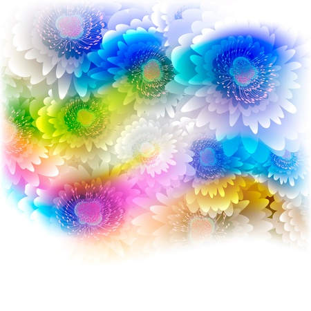 Flowers on bright a background Stock Vector - 17600267