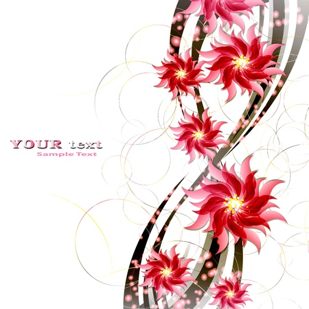 Flowers on bright a background     Stock Vector - 17712011