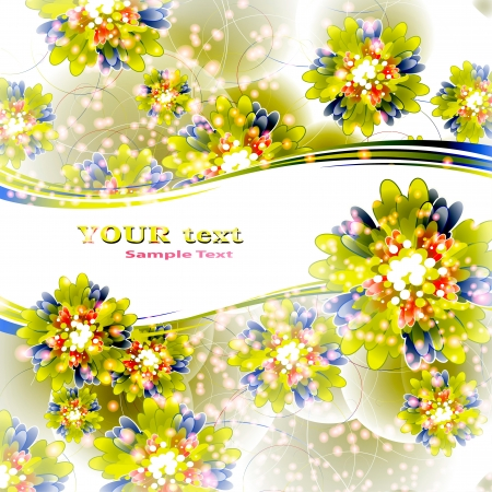 Flowers on bright a background Stock Vector - 17712019