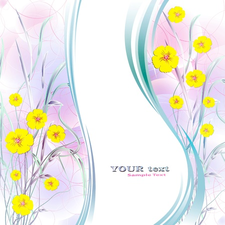 Flowers on bright a background     Stock Vector - 17711970
