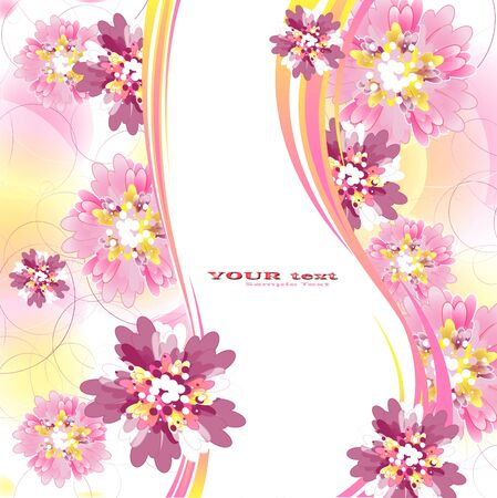 Flowers on bright a background Stock Vector - 17712015