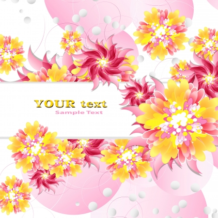 Flowers on bright a background Stock Vector - 17712020