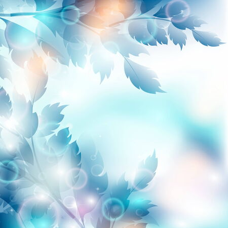 creative potential: Leaves bright a background are more transparent