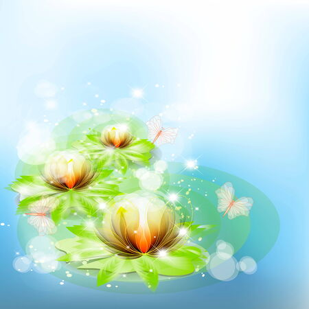 Easy beautiful Background with colors the Lily  Stock Vector - 25943605