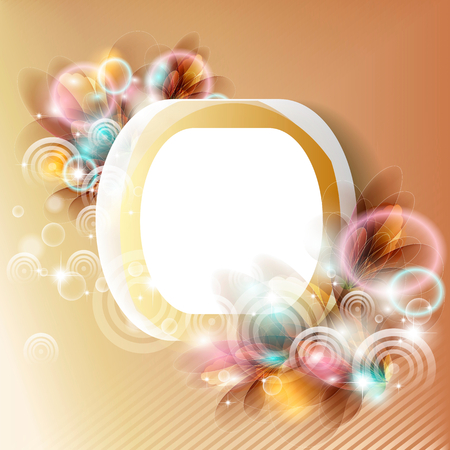 Framework with colors on bright a background Vector