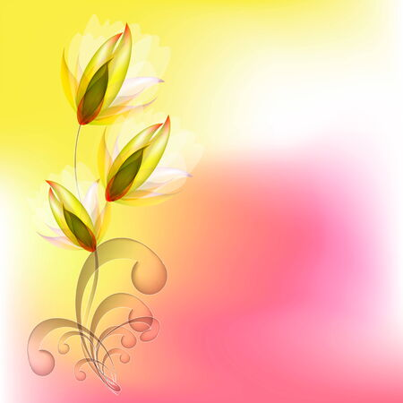 Flowers bright a background are more transparent Stock Vector - 25943909