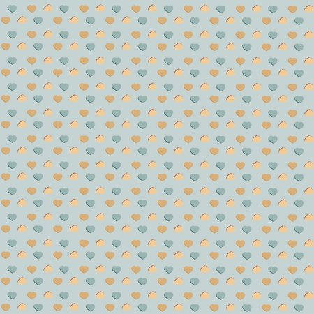 Seamless pattern with hearts  Illustration